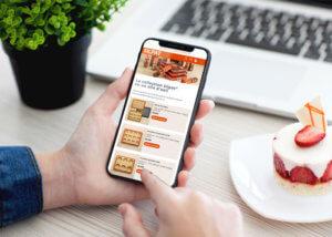 site e-commerce mobile